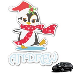 Christmas Penguins Graphic Car Decal (Personalized)