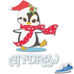 Christmas Penguins Graphic Iron On Transfer (Personalized)