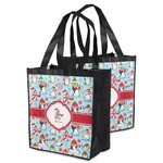 Christmas Penguins Grocery Bag (Personalized)