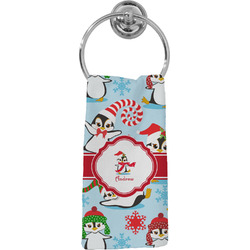 Christmas Penguins Hand Towel - Full Print (Personalized)