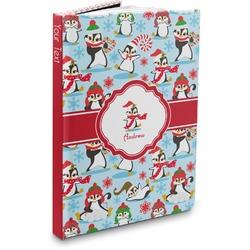 Christmas Penguins Hardbound Journal (Personalized)