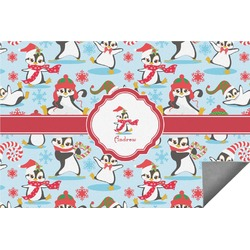 Christmas Penguins Indoor / Outdoor Rug (Personalized)