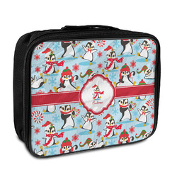 Christmas Penguins Insulated Lunch Bag (Personalized)