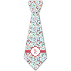 Christmas Penguins Iron On Tie (Personalized)
