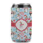 Christmas Penguins Can Sleeve (12 oz) (Personalized)