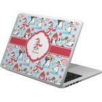 Christmas Penguins Laptop Skin - Custom Sized (Personalized)