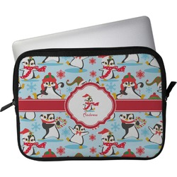 "Christmas Penguins Laptop Sleeve / Case - 15"" (Personalized)"