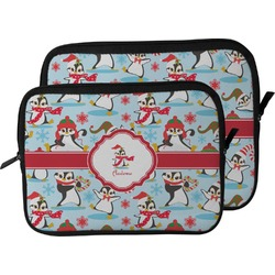 Christmas Penguins Laptop Sleeve / Case (Personalized)