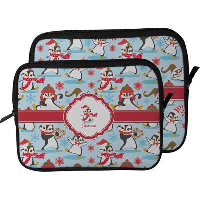 Christmas Penguins Laptop Sleeve / Case (Personalized)