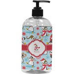 Christmas Penguins Plastic Soap / Lotion Dispenser (Personalized)