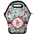 Christmas Penguins Lunch Bag w/ Name or Text