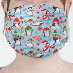 Christmas Penguins Face Mask Cover (Personalized)
