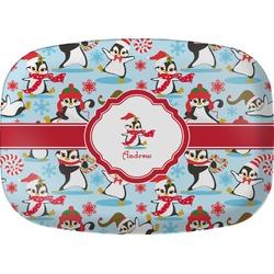 Christmas Penguins Melamine Platter (Personalized)