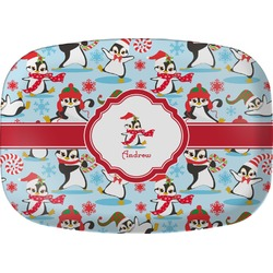 Christmas Penguins Melamine Platter (Personalized)