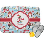 Christmas Penguins Memory Foam Bath Mat (Personalized)