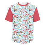 Christmas Penguins Men's Crew T-Shirt (Personalized)