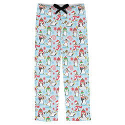 Christmas Penguins Mens Pajama Pants (Personalized)