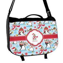 Christmas Penguins Messenger Bag (Personalized)