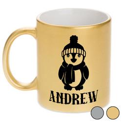 Christmas Penguins Metallic Mug (Personalized)