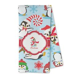 Christmas Penguins Microfiber Kitchen Towel (Personalized)