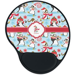 Christmas Penguins Mouse Pad with Wrist Support