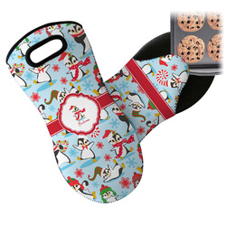 Christmas Penguins Neoprene Oven Mitt (Personalized)