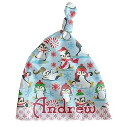 Christmas Penguins Newborn Hat - Knotted (Personalized)