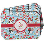 Christmas Penguins Dining Table Mat - Octagon w/ Name or Text