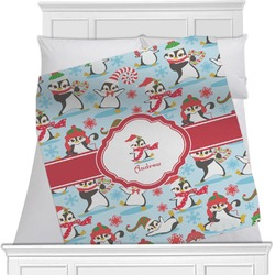 Christmas Penguins Minky Blanket (Personalized)