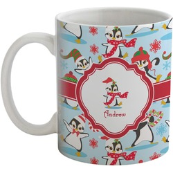 Christmas Penguins Coffee Mug (Personalized)