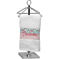 Christmas Penguins Finger Tip Towel (Personalized)