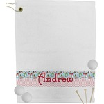 Christmas Penguins Golf Towel (Personalized)
