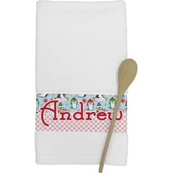Christmas Penguins Kitchen Towel (Personalized)
