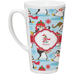 Christmas Penguins Latte Mug (Personalized)