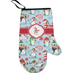 Christmas Penguins Right Oven Mitt (Personalized)