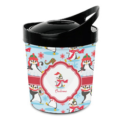 Christmas Penguins Plastic Ice Bucket (Personalized)