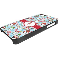 Christmas Penguins Plastic iPhone 5/5S Phone Case (Personalized)