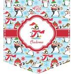 Christmas Penguins Iron On Faux Pocket (Personalized)