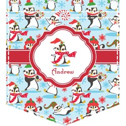 Christmas Penguins Iron On Faux Pocket (Personalized)