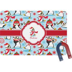 Christmas Penguins Rectangular Fridge Magnet (Personalized)