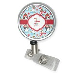 Christmas Penguins Retractable Badge Reel (Personalized)