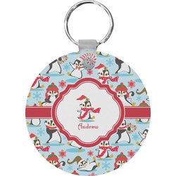 Christmas Penguins Keychains - FRP (Personalized)