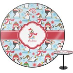 Christmas Penguins Round Table (Personalized)