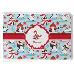 Christmas Penguins Serving Tray (Personalized)