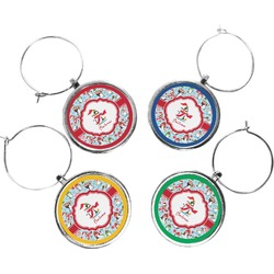 Christmas Penguins Wine Charms (Set of 4) (Personalized)