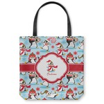 Christmas Penguins Canvas Tote Bag (Personalized)
