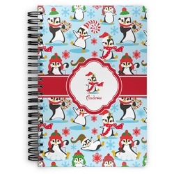 Christmas Penguins Spiral Notebook (Personalized)