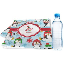 Christmas Penguins Sports Towel (Personalized)