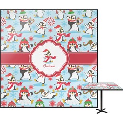 Christmas Penguins Square Table Top (Personalized)