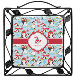 Christmas Penguins Trivet (Personalized)